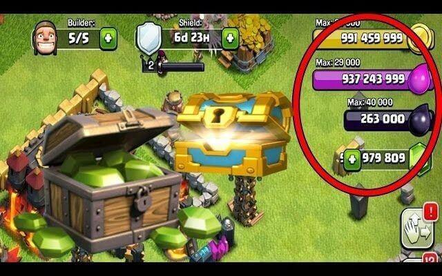 hack kim cuong clash of clans